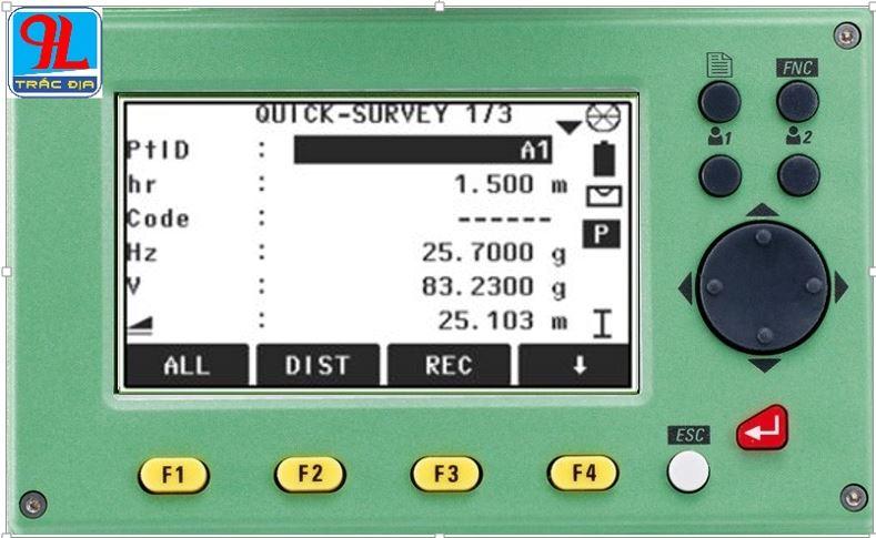hướng dẫn sử dụng máy toàn đạc điện tử leica ts 02-đo nhanh