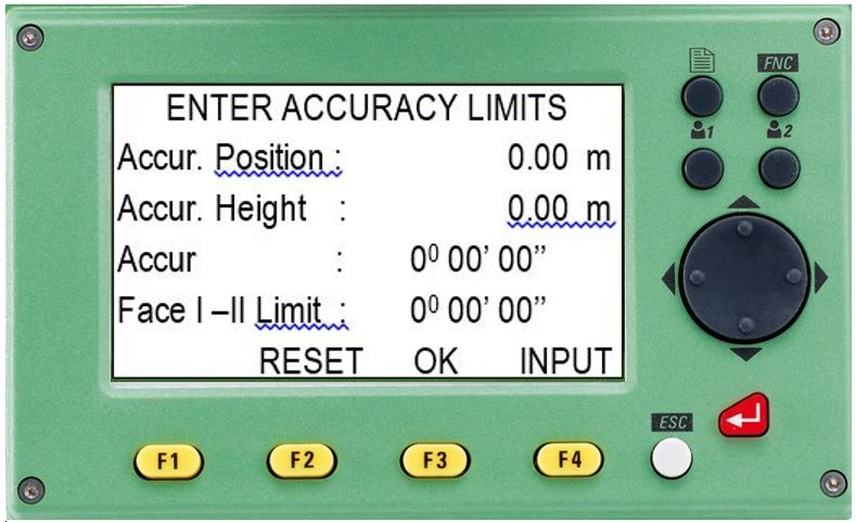 hướng dẫn sử dụng máy toàn đạc điện tử leica ts 02-enter accuracy limts