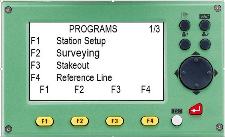 hướng dẫn sử dụng máy toàn đạc điện tử leica ts 02-màn hình chương trình đo