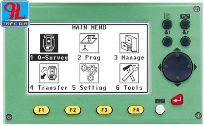 hướng dẫn sử dụng máy toàn đạc điện tử leica ts 02-màn hình menu