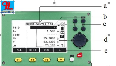 hướng dẫn sử dụng máy toàn đạc điện tử leica ts 02-màn hình