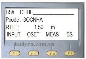đặt tên điểm định hướng topcon gts 235n