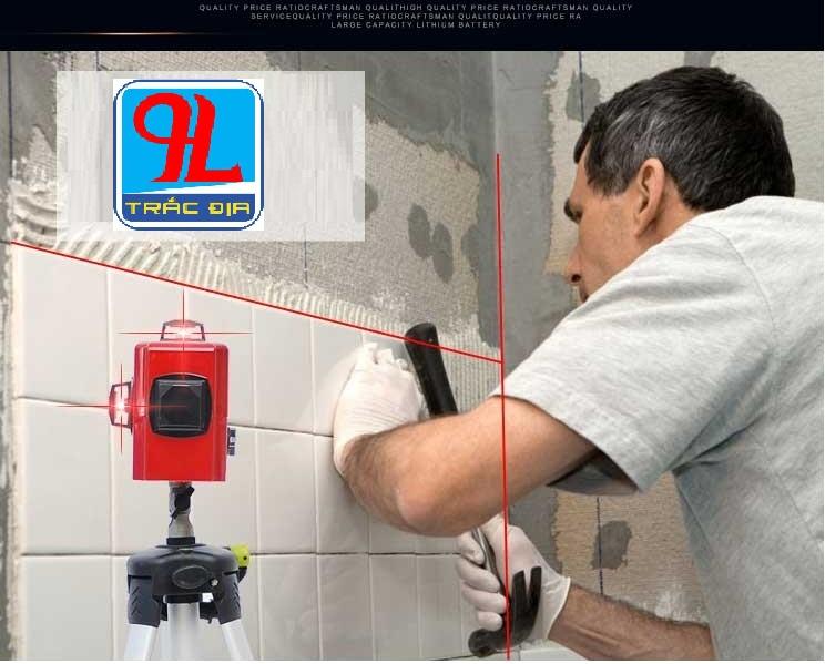 máy thủy bình laser sincon-ốp tường